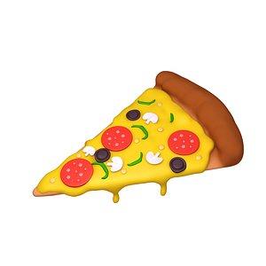 3D pizza slice