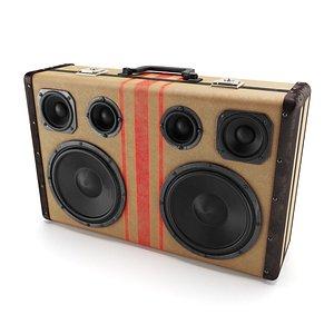 Boombox Audio Player 3D model