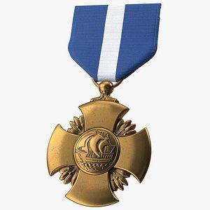 3D model Navy Cross Medal