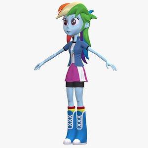 Human Rainbow Dash EG Character 8K 3D model