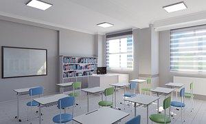 School Library Interior Design 02 3D model