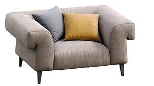 3D gianfranco ferre armchair model