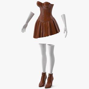 3D Women Clothes 3 model