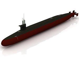 USS Ohio Submarine model