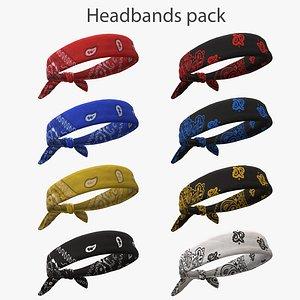 Headbands pack 3D model