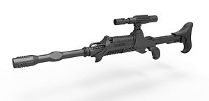 Assassin Rifle from Star Trek The Undiscovered Country model