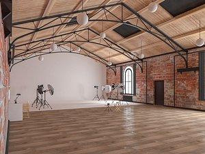 Loft Photo Studio Scene 3D model