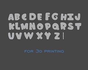 3D alphabet printing model
