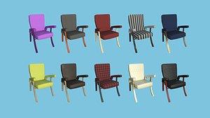10 Armchair Collection - Furniture Interior Design 3D model