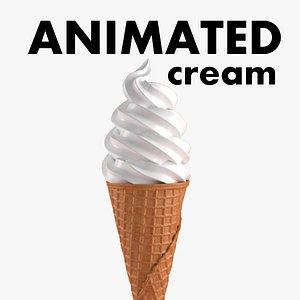 cream cone 3D