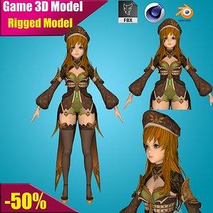 3D princesswomanpeoplechildanimationcartoongirlcharacterfrozenelsaannaqueenicesnowwhite3dmodels model