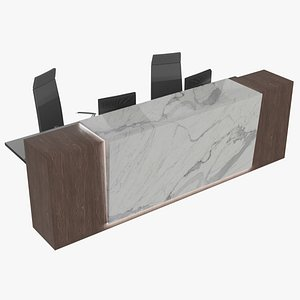 3D photorealistic reception desk pbr