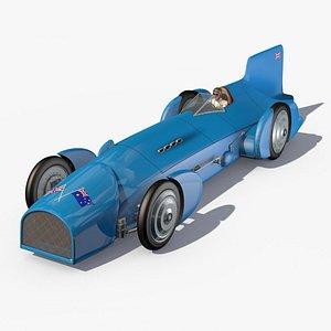 Bluebird 1931 Land speed record car 3D model