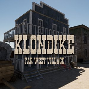 Klondike - Far West Village - Unity HDRP model