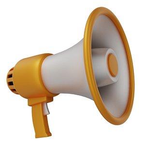 megaphone yellow 3D