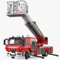 Iveco FF160 Magirus Fire Truck Rigged