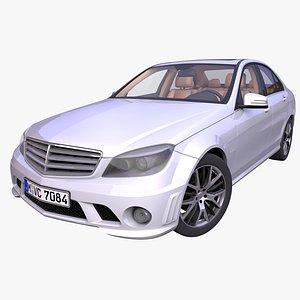 3D Generic German Sedan model