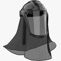 Facial Faceshield Helmet With Neck Cover