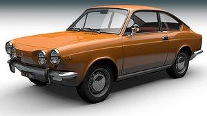 Fiat 850 Sport Coupe 1971 3D model