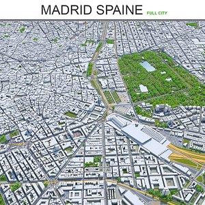 3D Madrid city Spain 3d model model