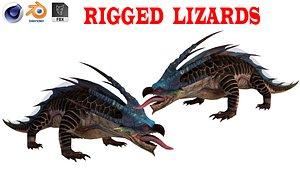 3D Chameleon rigged model