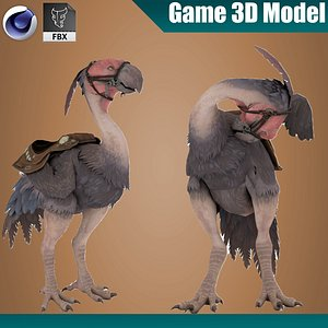 3D Beak Rigged and Animated model