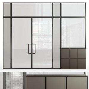 Glass partition 9 3D model