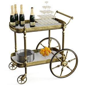 3D bar cart model