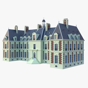 3D french mansion