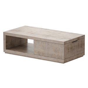 3D rectangular coffee table nelsen