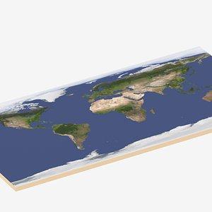 World Map 3D model