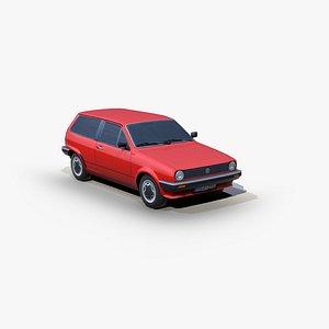 3D Volkswagen Polo Formel E 1983