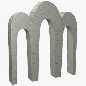 3D stone arc