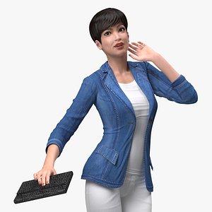 3D Asian Streetwear Fashion Woman