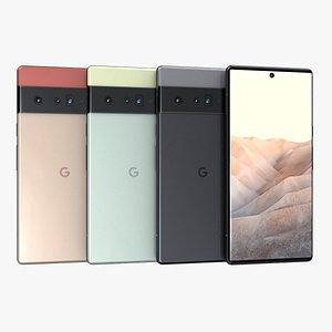 Google Pixel 6 All Color 3D model