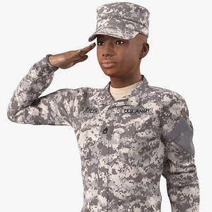 black female soldier acu model