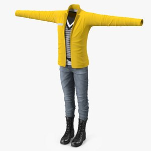 3D Fashionable Style Clothes model