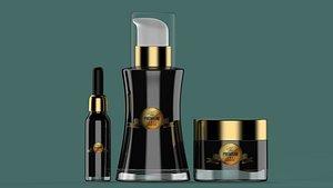 3D cosmetic bottle