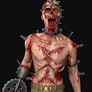 tormented horror character 3D