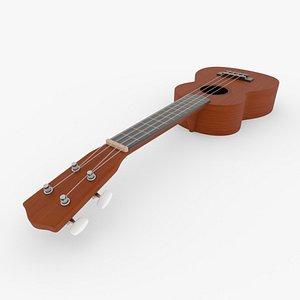 3D ukulele blender v-multi