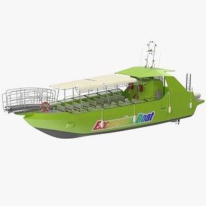 Moggaro 1800 Excursion Boat 3D