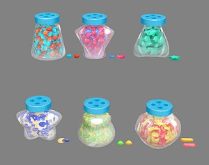 sweets glass candies 3D model