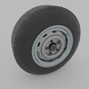 3D dunlop vintage tire model