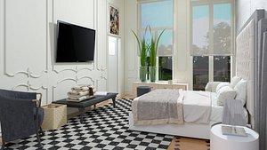 bedroom room bed 3D