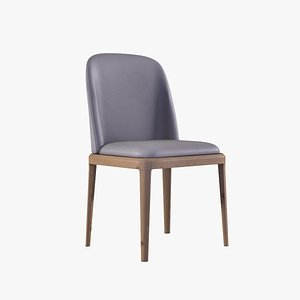 Evelyn Dining Chair grey finish 3D