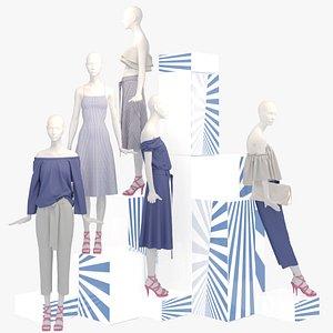 3D 3D Showroom Fashion Store 010