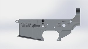 5.56 AR-15 Lower 3D Model 3D model