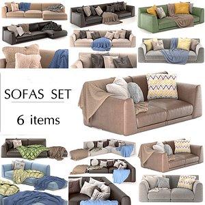 3D model sofa poliform