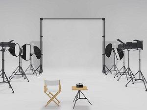 Studio Photography Lighting Models 2 3D model