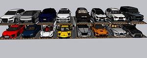 LUXURY CAR PARKING 3D model